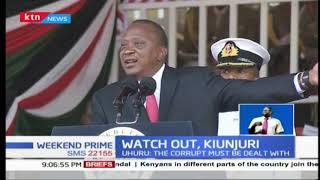 President Uhuru Kenyatta warns Agriculture CS Mwangi Kiunjuri