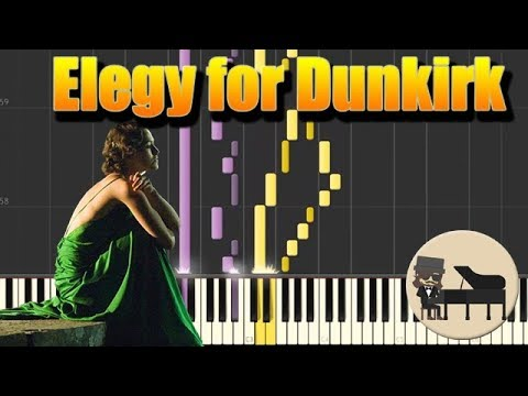 🎵 Elegy for Dunkirk - Atonement - Dario Marianelli [Piano Tutorial] (Synthesia) HD Cover