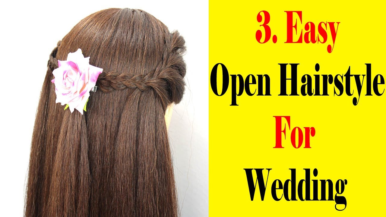 3 Open Hairstyle For Wedding Guest || Easy Hairstyle  || Simple Hairstyle || Cool Hairstyles