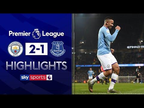 City survive late Everton comeback! | Man City 2-1 Everton | Premier League Highlights