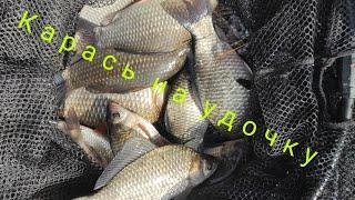 Карась на удочку, первая рыбалка на поплавочную удочку в 2021 году