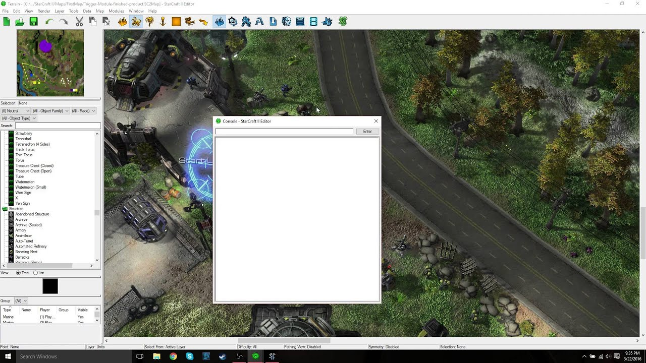 StarCraft 2 Map Editor: Reducing Load Time, Console, and Spell Check