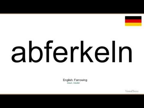 How to pronounce: Abferkeln (German)
