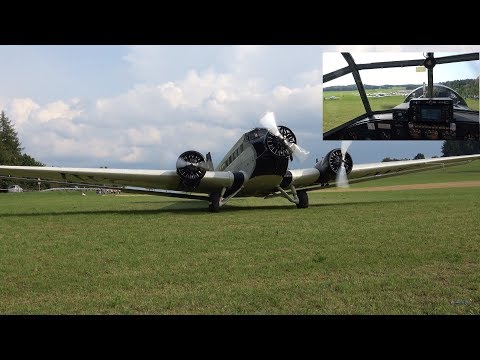 Junkers Ju 52  - Awesome scenic flight over Germany