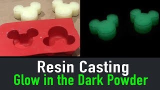 How to Make Glow in the Dark Epoxy Mickey Ears // Resin Casting