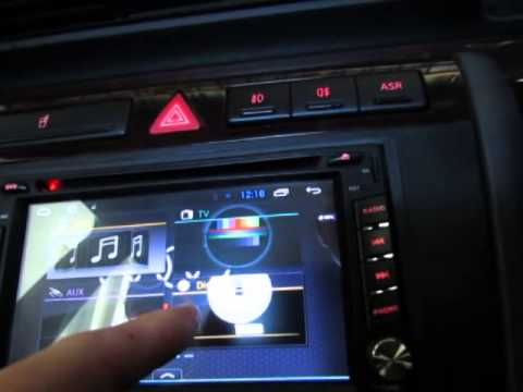 audi a4 b5 with android double din dvd system youtube. Black Bedroom Furniture Sets. Home Design Ideas