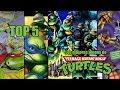 TOP 5 | Los mejores videojuegos de Las Tortugas Ninja (TMNT: Teenage Mutant Ninja Turtles)