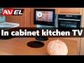 Аlternative to kitchen TV under cabinet - in cabinet kitchen TV (cabinet door TV)