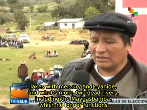 Peruvian environmentalists reject transnational mining projects