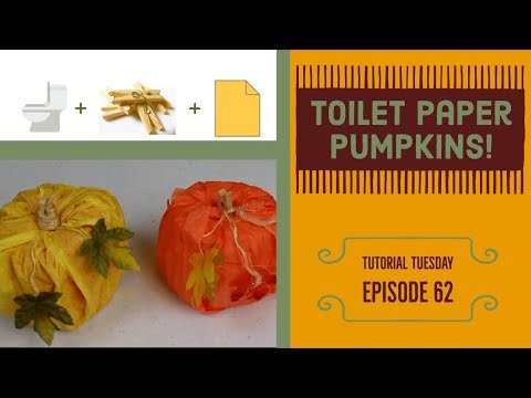 Toilet Paper Roll Pumpkins | Easy Fall DIY Decor | TuTu Ep 62