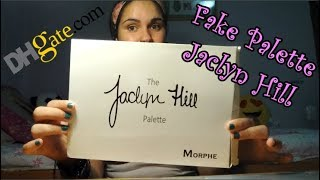 MAKEUP REVIEW | Dhgate FAKE JACLYN HILL PALETTE