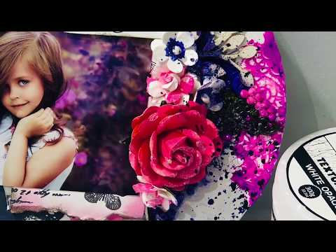 DIY, How to make mixed media layout Step by step video tutorial  Beautiful like butterfly