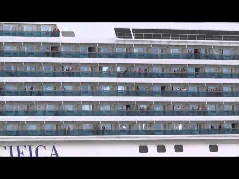 COSTA PACIFICA saindo de Santos 06/12/2014