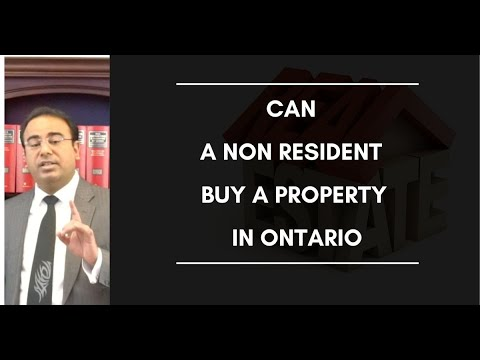 Can A Non Resident Buy A Property In Ontario - Non Resident Speculation Tax