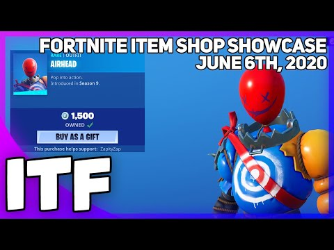 Fortnite Item Shop *NEW* AIRHEAD SKIN! [June 6th, 2020] (Fortnite Battle Royale)