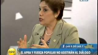 Luz Salgado: sobre negativa del Apra y Fuerza Popular de no asistir al diálogo