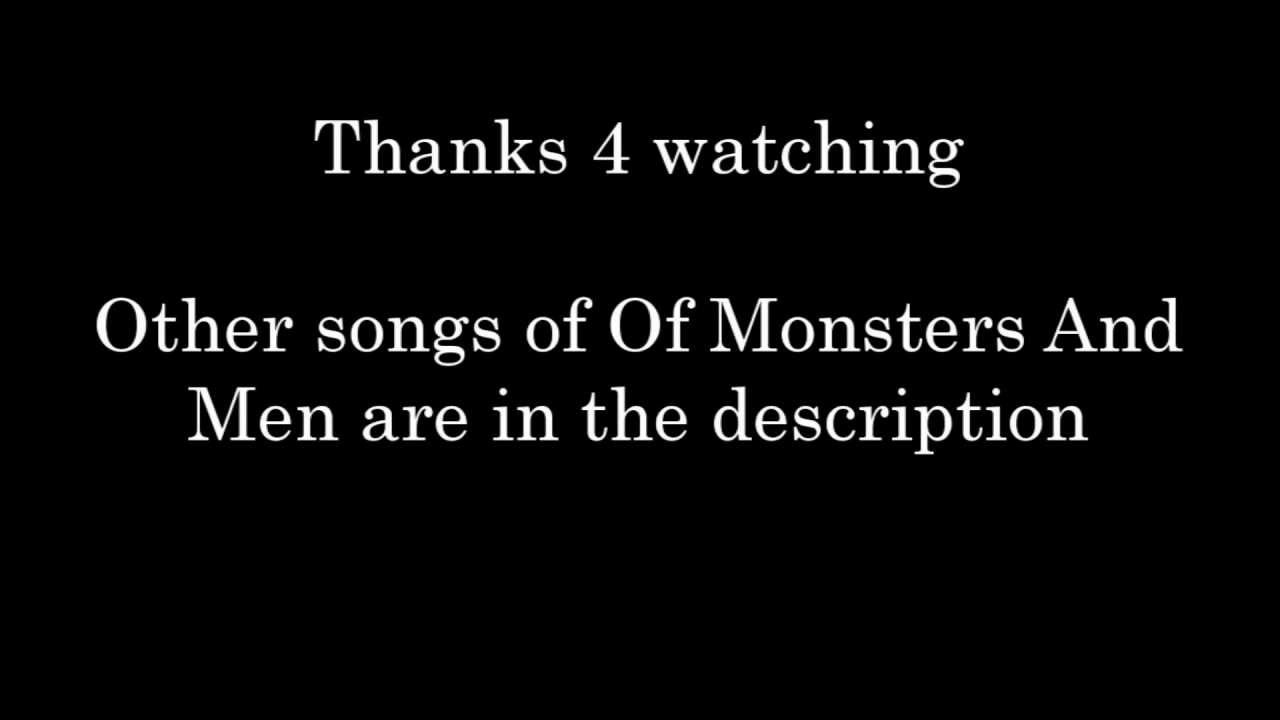 Of Monsters And Men - From Finner - Lyrics [My Head Is An ...