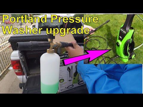 Foam Cannon on Portland Pressure Washer+Upgrade||Harbor Freight