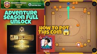 Carrom Pass Adventure Season unlock 🔥| Carrom Pool Game play | Carrom pool | Gaming Nazim 🔥 screenshot 1