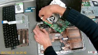HP Pavilion 15  - Disassembly and fan cleaning - Hard Disk removal -   Desmontaje y limpieza