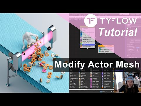TyFlow Tutorial: Modify Animated Actor Meshes!