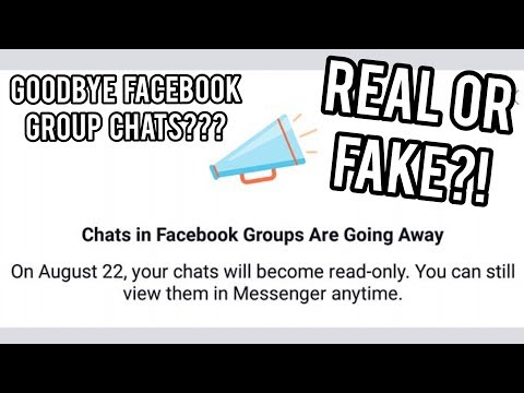 REAL OR FAKE?? CHATS In FACEBOOK GROUPS Are GOING AWAY!!!