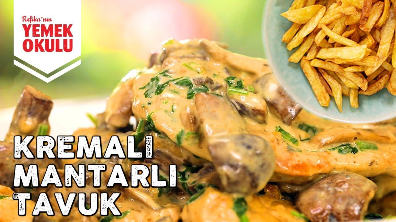 Restoranlardaki Gibi Kremalı Tavuk + Pratik Çıtır Patates Kızartması Tarifi
