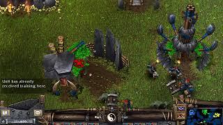 Battle Realms Wolf Clan 4 vs. 4 skirmish
