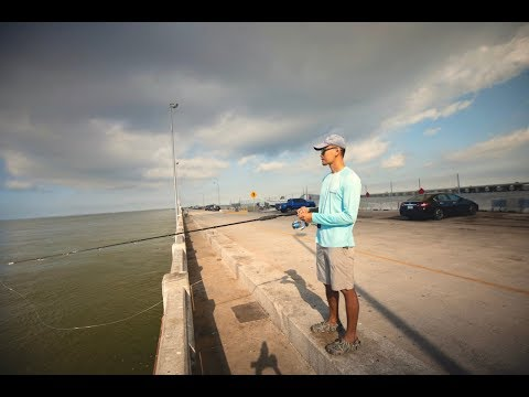Fishing For One Of The STRONGEST Fish Off THE PIER!