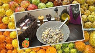 №5. Салат Сухарик (с фасолью и кукурузой)