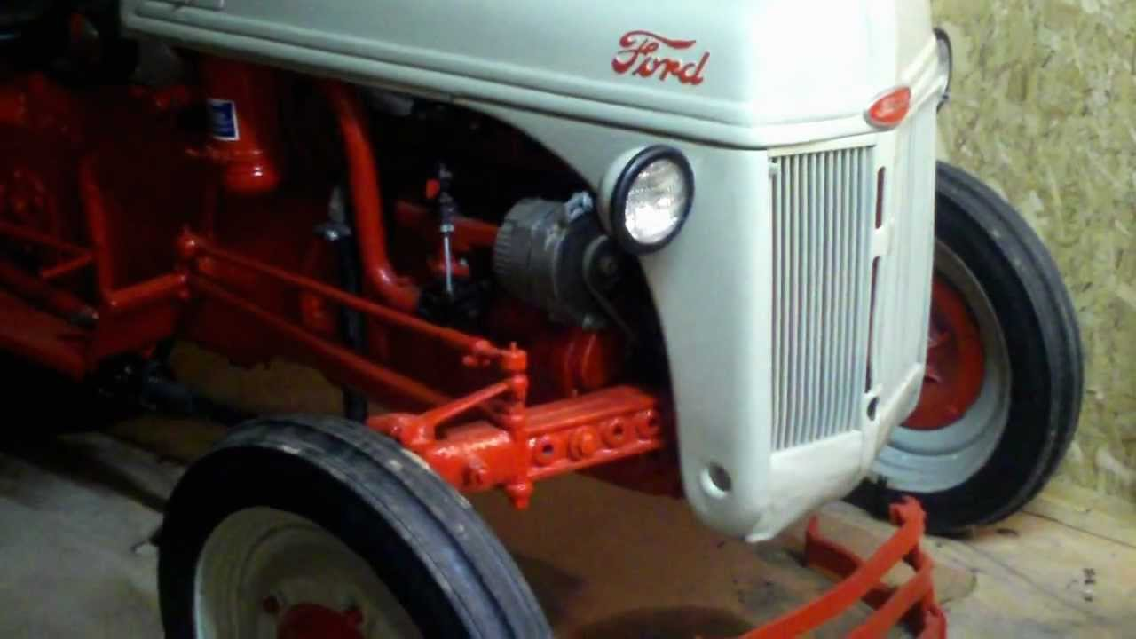 Walk Behind Tractor >> 1945 Ford 2N tractor - YouTube