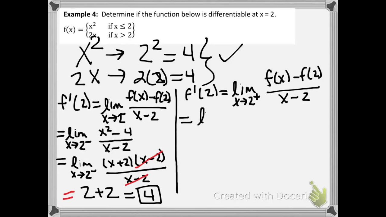 Determine if a Function is Differentiable