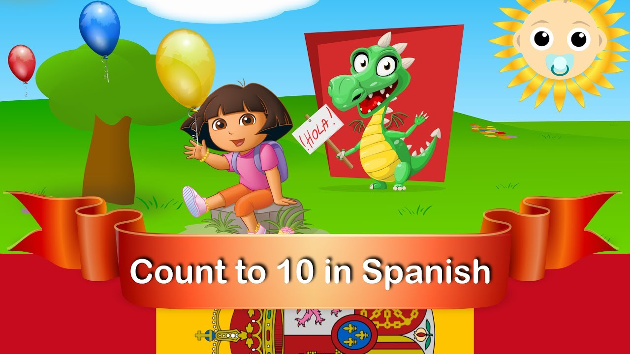 learn 1-10 in Spanish | With Dora the Explorer | Fun & count game ...
