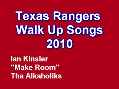Texas Rangers Walk Up Songs 2010