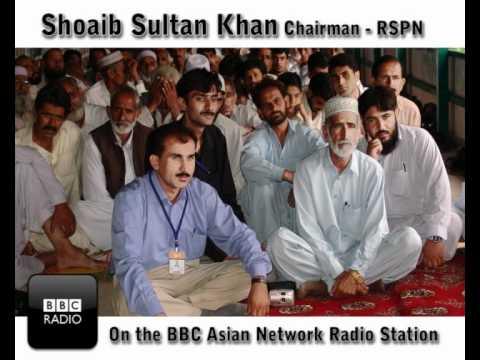 Shoaib Sultan Khan on the BBC Asian Network radio station