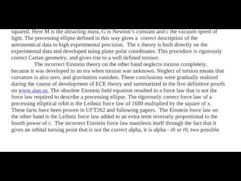 Essay 98   The X Theory of Orbits, Refutation of Einstein General Relativity