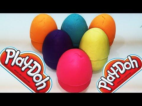 Play Doh Colors Surprise Eggs Doraemon Peppa Pig Cute Lego Toys