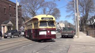 Toronto Heritage Streetcar on Kingston Road Toronto Transit Commission TTC