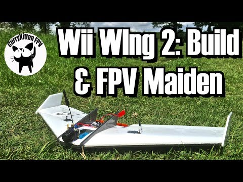 The Wii WIng 2 build with FPV maiden (and slight drama !)