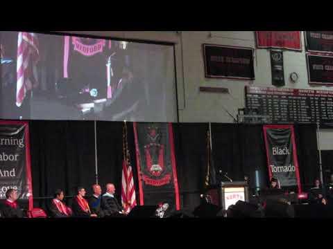 Sarah Tang played Fantaisie Impromptu by Chopin at 2018 North Medford High School graduation