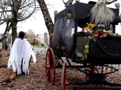 Halloween 2013 d cor ext rieur youtube - Fabriquer decoration halloween ...