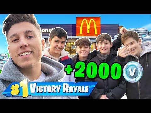 Leute im McDonalds zu einem 1v1 herausfordern in Fortnite!