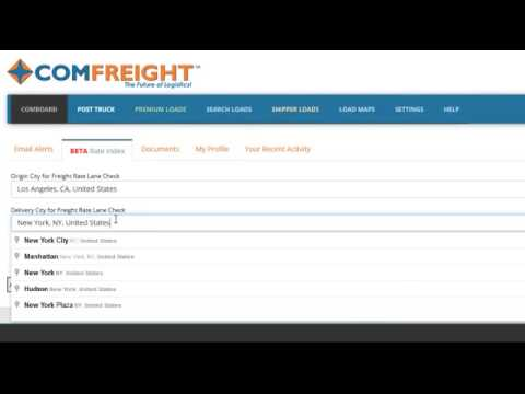 How To Check Truck Load Freight Rates!