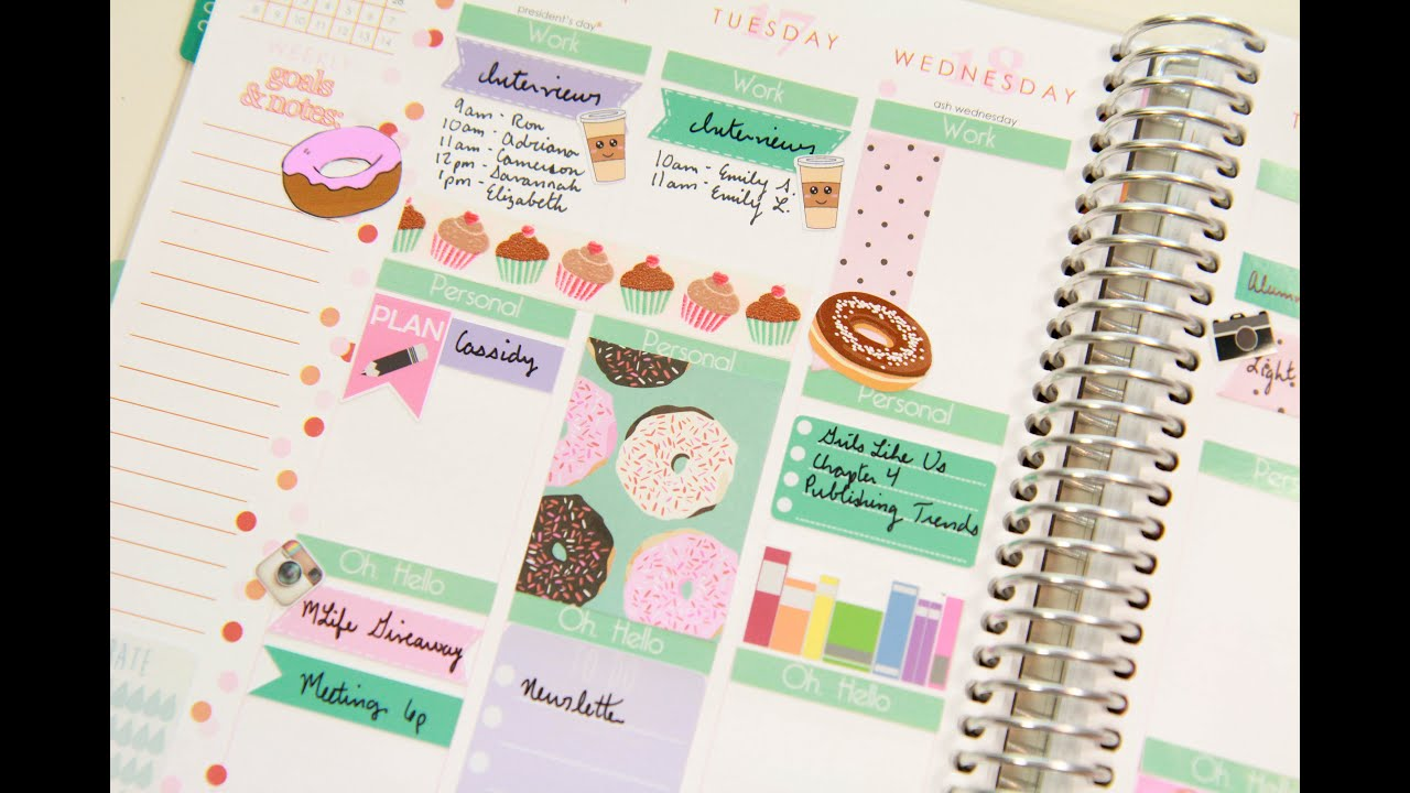 Plan with me doughnut theme youtube for Plan me