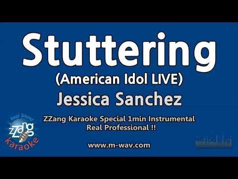 Jessica Sanchez-Stuttering (American Idol)(1 Minute Instrumental) [ZZang KARAOKE]