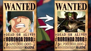 НАГРАДЫ ЗА ГОЛОВУ Мугивар после Арки ВАНО  One Piece   Ван Пис  теория