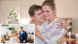 REACTING TO OUR WEDDING VIDEO FOR THE FIRST TIME *emotional*