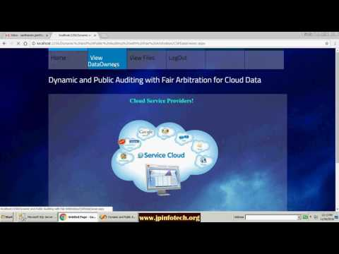 Dynamic and Public Auditing with Fair Arbitration for Cloud Data in DOT NET