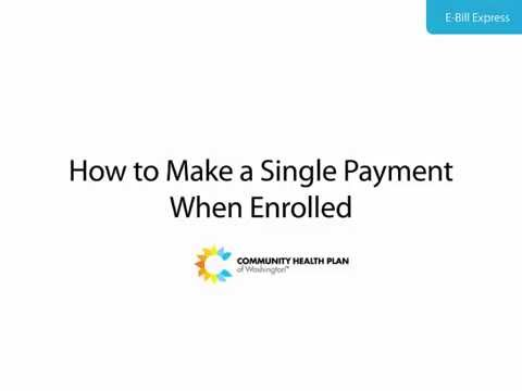 How to Make a Single Payment When Enrolled