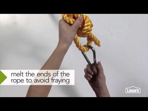 Create a rope swing - Lowe's Creative ldeas